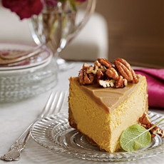 Pumpkin-pecan cheesecake