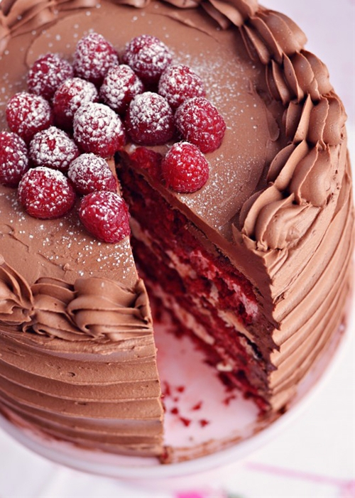 Red Velvet & Raspberry Supreme Cake