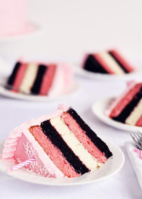 Neapolitan 5-layer birthday cake