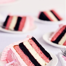 Neapolitan 5-layer birthday cake
