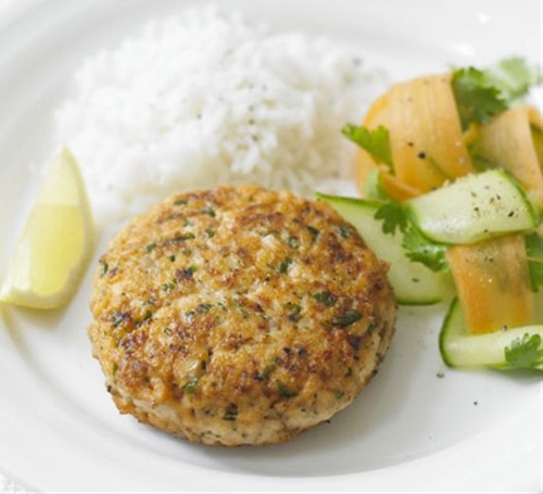 Thai Red Curry Salmon Burgers