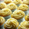 Lemon cupcakes with lemon cream cheese icing