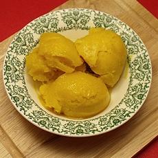 Easy mango lime sorbet