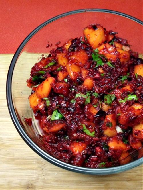 Cranberry mango salsa