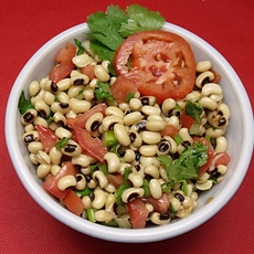 Vegetarian black eyed pea salad