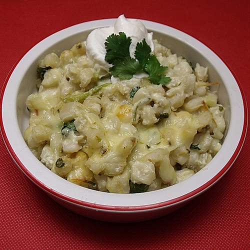 Hominy con Queso