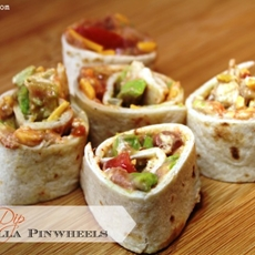 Tortilla Pinwheels - 7 Layer Dip Version