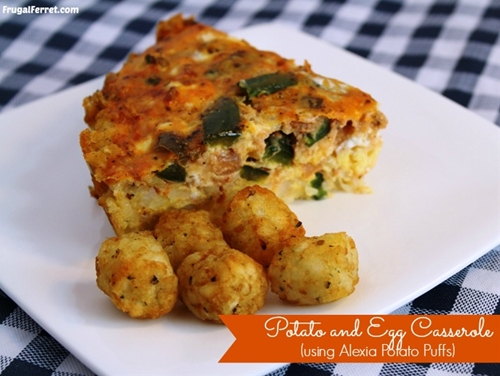 Potato & Egg Casserole {Alexia Potato Puffs}