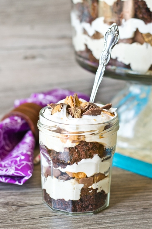 Reese's Butterfinger Cream Cheese Trifle