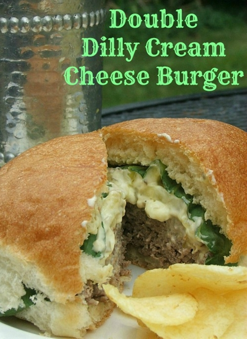 Double Dilly Cream Cheese Burgers