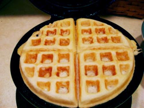 Waffles for dinner