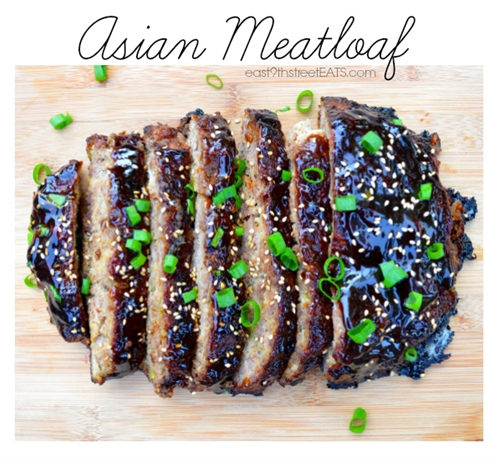 Asian meatloaf with ground chicken