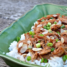 Slow Cooker Asian Chicken over Jasmine Rice