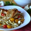 caprese salad pasta with chicken saute #shop
