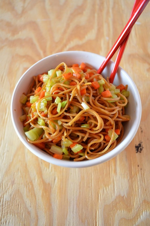 Chinese Lunar New Year - Vegetable Lo Mein