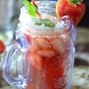 Sugared Strawberry Basil Lemon Tea