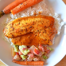 Tilapia with Strawberry Avocado Salsa