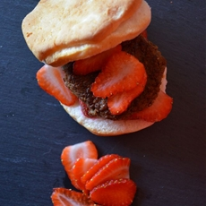 Strawberry and Sausage Breakfast Sandwich