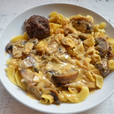 Meatball Stroganoff with Land OLakes