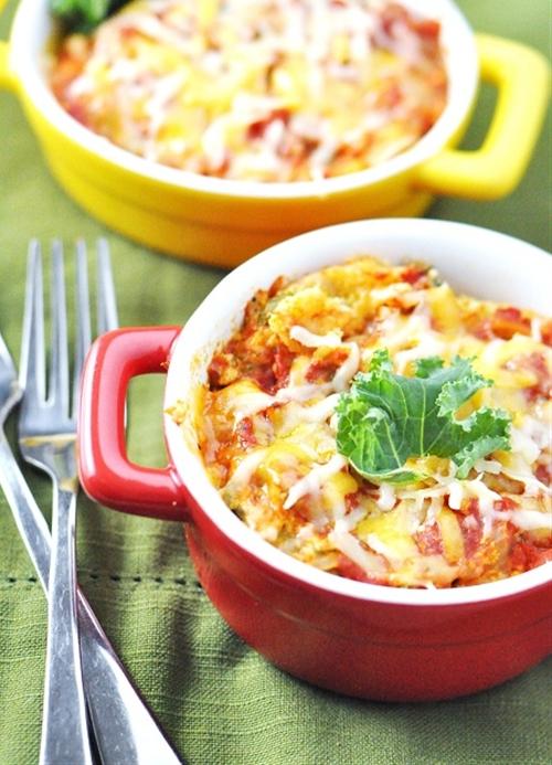 Slow-Cooker Vegetarian Lasagna with Mushrooms & Kale