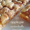 Easy Snickerdoodle apple pie