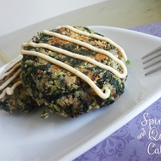 Spinach and Quinoa Cakes