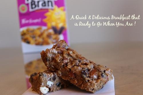 Four Ingredient Raisin Bran Breakfast Bars