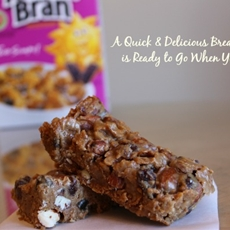 Four Ingredient Raisin Bran Breakfast Bars