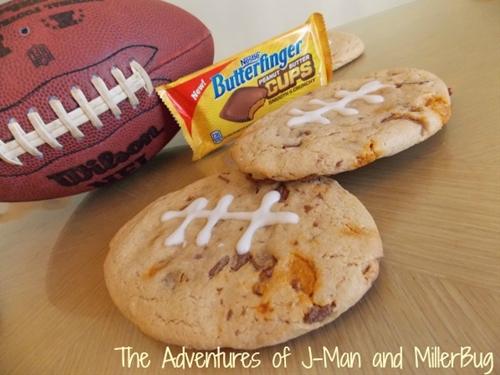 Butterfinger Cups Football Cookies