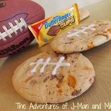 Butterfinger Cups Football Cookies