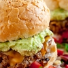 Mexican Cheeseburgers with Homemade Guacamole and Salsa recipe