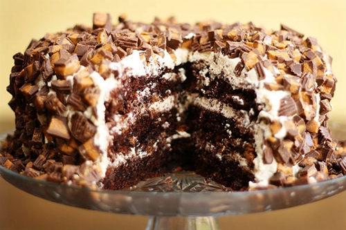 Peanut Butter And Chocolate Brownie Cake