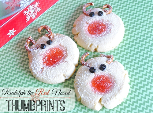 Rudolph the Red-Nosed Thumbprints