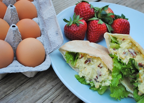 Loaded Egg Salad Pitas