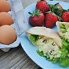 Loaded Egg Salad Pitas