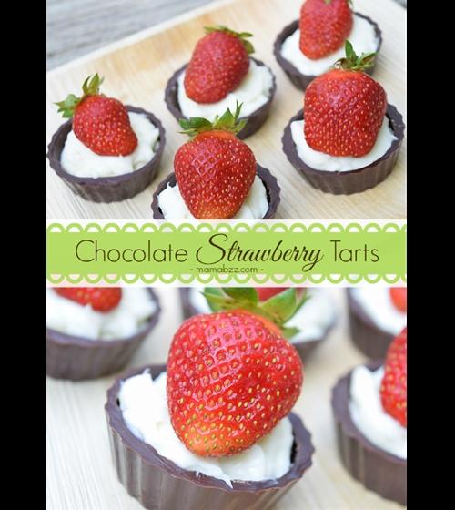 Chocolate Strawberry Tarts