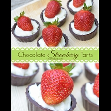 Chocolate Strawberry Tarts