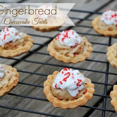 Gingerbread Cheesecake Tarts