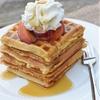 Homemade Peaches and Cream Waffles