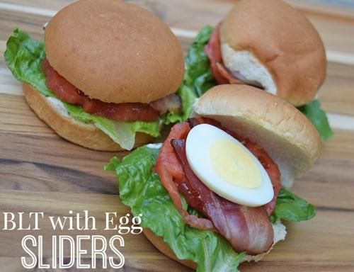 BLT with Egg Sliders