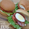 BLT with Egg Sliders