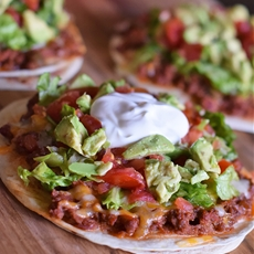 Homemade Mexican Pizza with All the Fixins