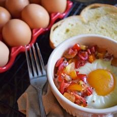 Baked Egg Bruschetta