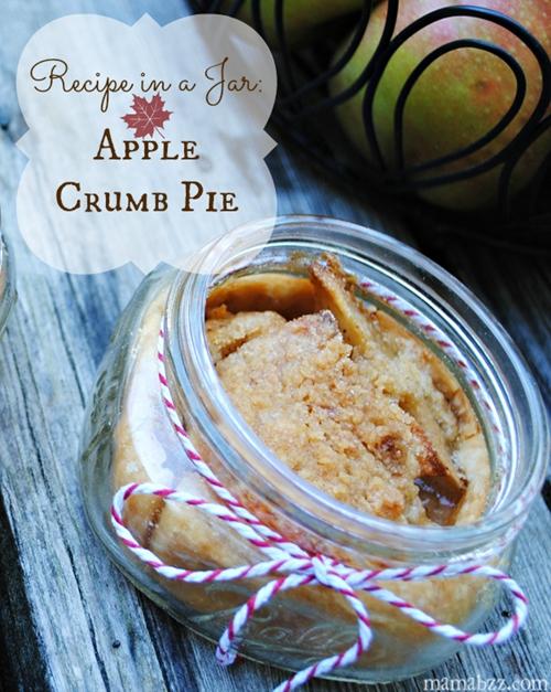 Autumn Recipe in a Jar ~ Apple Crumb Pie