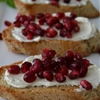 Holiday Pomegranate Crostini