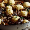Beef shin stew with Parmesan dumplings