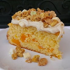 Peach Yogurt Granola Cake