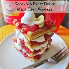 Kool-Aid Fruit Drink Mile High Waffle