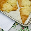 Buttery holiday cheese triangles