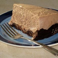 Gluten free nutella cream cheese pie with chocolate cookie crust